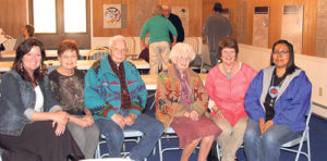 """Nearly 50 people attended the quarterly luncheon of the Rio Blanco County Historical Society, including Lynn Lockwood, Bev Steinman, Joe Sullivan, Ethel Starbuck, Ellene Meece and Kerry Cesspooch, vice president of the Uintah-Ouray Historical Society and a descendant of Colorow. The luncheon, titled; """"Honoring White River Ute Heritage,"""" was held in the Old West Heritage Cultural Center in Meeker, and a conversation about ways to pass on stories to our children and how to collaborate our heritage was positive. One idea was to have a memorial horseback ride between Fort Duchesne, Utah, and Meeker."""