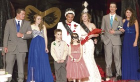 Rangely High School held its Spring Prom on Saturday. The 2016 Prom Royalty includes, in the back row from left to right: Attendants Nakoma Bailey and Marielle Ivie; Prom King and Queen Kiki Ruiz and Carrie Goddard; and Attendants Kaulan Brady and Echo Campbell. In the front row are Cutler Mergelman and Addison Thayn.