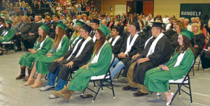 A nearly full house met the Rangely High School Class of 2016 on Sunday afternoon in the Rangely High School gymnasium. The event was emceed by RHS Principal Dr. K.D. Bryant and included scholarships and academic/athletic awards being handed out.