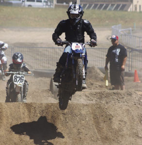 The leader of the pack in this case was Porter Hossack, 12, of Meeker at the Moto Mayhem inaugural dirt-bike races held Saturday at the Rio Blanco County Fairgrounds in Meeker. The full-day event began at 10 a.m. and continued late into the evening. The format was an enduro-style race more common in Europe.