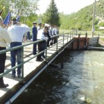 One of the Memorial Day traditions in Meeker has been the laying of an evergreen wreath into the White River at the Meeker Circle Park bridge. On Monday morning Aaron Zielinske and Pete Kiser dropped the wreath (bottom center) into the White River in memory of all members of the military who have given their lives in service to the country.