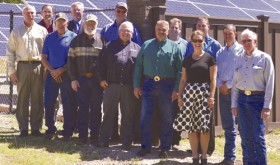 Meeker Solar Garden ribbon cutting…