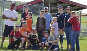 Several youth competed in the Colorado Rockies Skills Challenge hosted by the Eastern Rio Blanco Metropolitan Recreation and Park District in Meeker on Friday at Paintbrush Park. Participants competed in batting, base running and throwing. Champions included Gavin Allen in the 6-7 year olds, Wil Schwartz in the 8-9 year olds, Clay Randall in the 10-11 year olds and Damon Dade in the 12-13 year old division. Pictured: kneeling left to right: Clay Randall, Mason Allen, Wil Schwartz, Martin Conn, and Benjamin Conn; Standing youth left to right: Rylin Bratten, Dagon Dade, Gavin Allen and Damon Dade; and standing adults, left to right: Ron Kelly Crawford, Kim Kendall, Mike Pfister, Kari Jo Ruchti and Nicole Dupire.