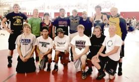 Team wrestling camp…