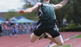 Rangely trackster and senior Kaulan Brady had one of the best state track meets in recent years for the Rangely Panthers.  Above, Brady is competing in the long jump, where he finished sixth in the state with a leap of 19-11.5. He also competed in the high jump,where he finished fourth in the state by clearing 6 feet and he ran in the 100-meter dash, where he placed 14th for the Panthers.