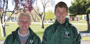 The future is looking bright for the Rangely High School track team if results from the Colorado 2A State Track and Field Champions held in Denver on May 21-23 are any indication. From left to right, sophomore Patrick Scoggins broke the school record in the 800-meter run, which stood since 1998, with a time of 2:01.27 and fellow sophomore Brennan Noyes broke the school high jump record, which had stood since 1980, by clearing the bar at 6-5.