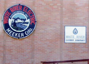 This is the new look at the front of the remodeled White River Electric Association building at 6th and Market streets in Meeker. The offices of the WREA reopened on July 18 back at their regular office location and a grand opening for the public to view the changes inside was held Tuesday.