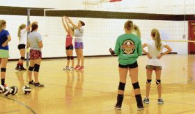 "Meeker High School volleyball players have been gathering for open gym since the beginning of July and they recently played 12 matches in Grand Valley. Janae Stanworth, who will start her third year as head coach, said her players ""have grown, are more experienced and playing with more confidence,"" and she can't wait for the season to start."