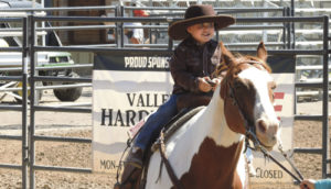 Carson Blunt of Meeker is seen here participating in the lead class during the Rio Blanco County Fair horse show on Saturday at the Rio Blanco County Fairgrounds. The fair gets into full swing today and continues through the 4-H/FFA Junior Livestock Sale on Saturday at 6 p.m.