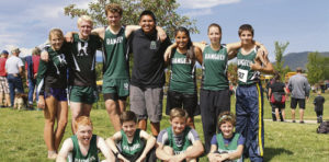 Pictured are members of the Rangely High School cross country team, which just opened its season on Saturday. Members of the team are, in the back row, from left to right: Phalon Osborn, Patrick Scoggins, Brennan Noyes, Cameron Filfred, Chloe Filfred, RaeLynn Norman and Nick Miears. In the front row, from left to right, are: Ben Nielsen, Colton Noel, Phillip Noyes and Norrah Patch.