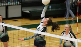 Panther volleyballers take Cowboys in four