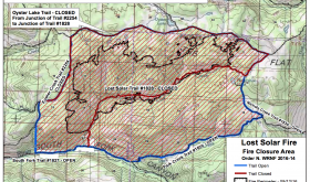 Forest Service issues temporary closure for Lost Solar Fire area
