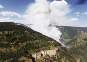 Strong winds brought in by a cold front that passed through the area caused the Lost Solar Fire to flare up, expanding to 2.024 acres in the Flat Tops Wilderness.