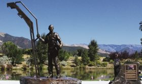 American hero memorialized with bronze statue