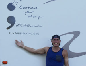 Phil King, 34, is running across the country to spread the word about mental health and suicide prevention awareness. He was in Meeker Tuesday, and headed to Rangely.