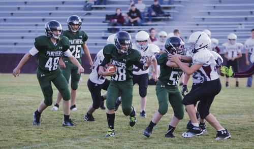Matt Scoggins Photo The Rangely Junior High football team had an impressive win over the Soroco Rams Sept. 22.