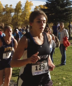Courtesy Photo Meeker's Julia Eskelson took fifth place at the cross country meet last weekend in Rifle, earning a new personal record of 20:19.