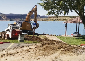 "In 2015 the Rio Blanco Water Conservancy District was awarded a $70,000 grant from Colorado Parks and Wildlife for the replacement of a fishing pier. This grant was the largest grant issued by the Colorado Parks and Wildlife in 2015 and will be used to construct an ""Americans with Disabilities Act"" compliant fishing pier. The pier will be a wonderful addition for all the users of Kenney Reservoir for decades to come with completion scheduled for November 2016."