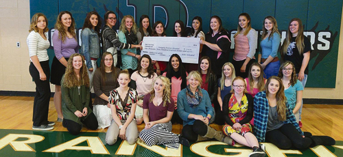 "courtesy photo Rangely High School's ""Pink Out"" raffle generated $1,914.94 for women in Rangely with financial need to be able to receive a mammogram at no cost."