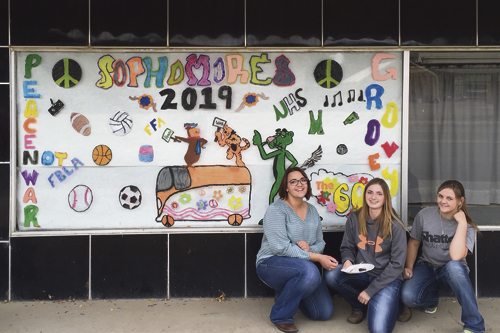 A sure sign of homecoming are the decorated windows around town. Rangely High School homecoming activities are taking place this week.