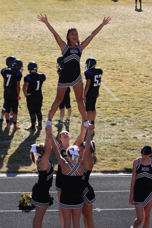 The Meeker High School cheerleaders would like to invite everyone to Starbuck Stadium Saturday for the 1A Colorado Football State Championship semifinal game between the visiting Bennett Tigers and the hometown Meeker Cowboys. A tailgate barbecue in the parking lot will start at 11 a.m. and everyone is encouraged to wear black.