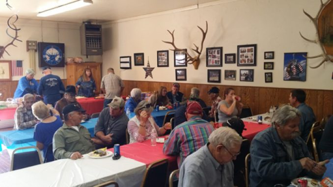 courtesy photo Veterans gathered in Rangely for the annual Veterans Day barbecue provided by Sam Tolley and family.