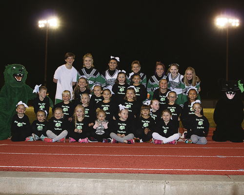 matt scoggins photo Rangely's Peewee Cheerleaders came together to support their Panthers at the final game of the football season.