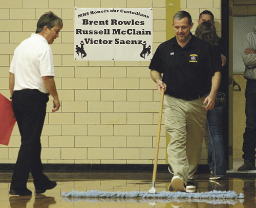 b phmkvball coach sweeping