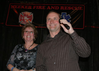 Wade Bradfield, owner of the collision centers in Meeker and Rangely, was honored as the Employer of the Year. Kris Borchard presented the award.