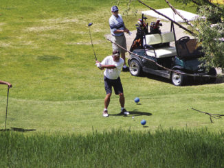 golfers at the meeker two man best ball