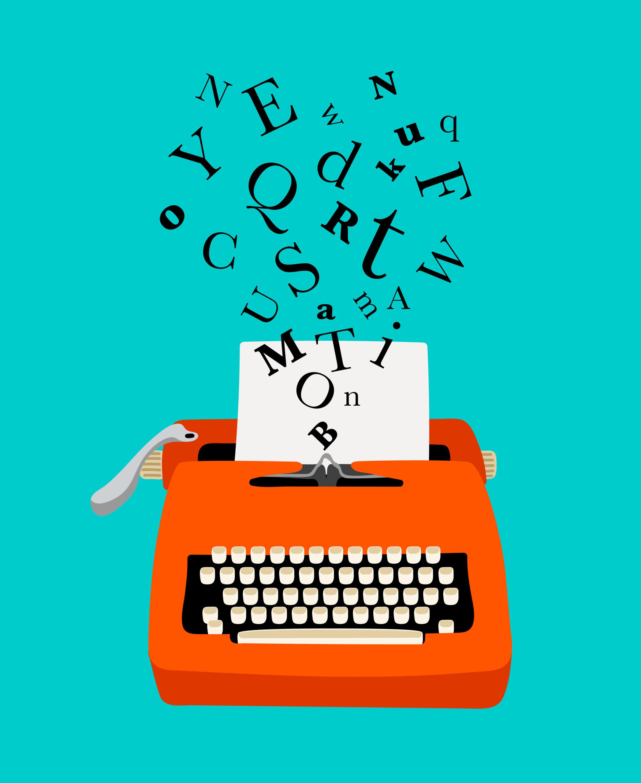 Typewriter colorful icon